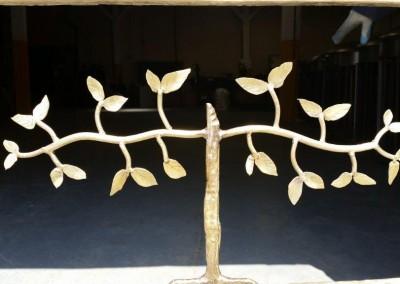 Console Satin Bronze Finish Tree