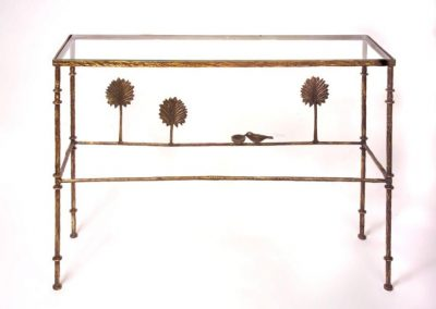 Giacometti Trees with Bird Dish Console
