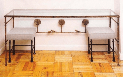 Console With Two Benches