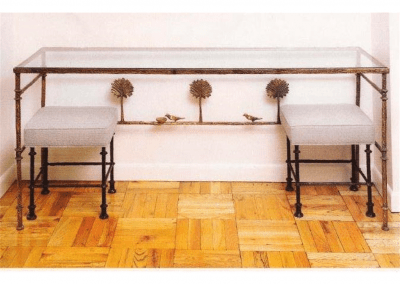 Giacometti Console with Two Benches