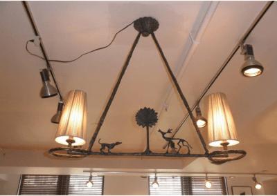 Giacometti Bronze Chandelier