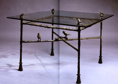 Giacometti Table with frogs and birds
