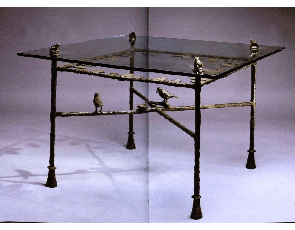 Table with Frogs and Birds