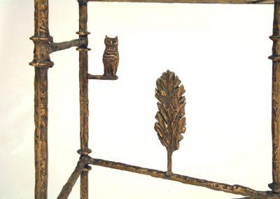 Giacometti Cyrpress Tree Console Detail