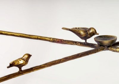 Giacometti End Bronze Table-Detail Bird