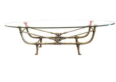 Giacometti Coffee Table With Flower
